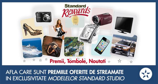 standard rewards premii, tombole, noutati